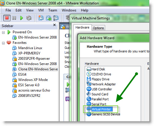 How-to enable Thin Print in VMware Workstation 7 | ESX