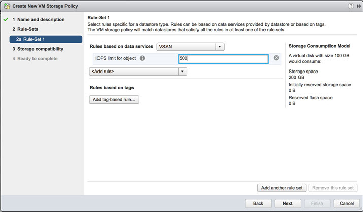 VMware VSAN 6.2 - setting IOPS limit per object
