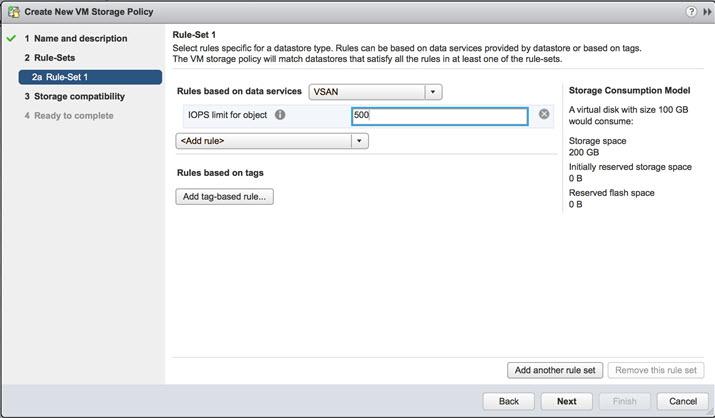 VMware VSAN 6.2 - setting IOPS limit per object