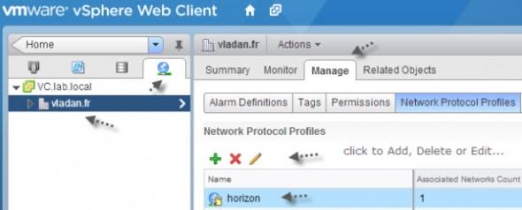 VMware IP pools through Web Client