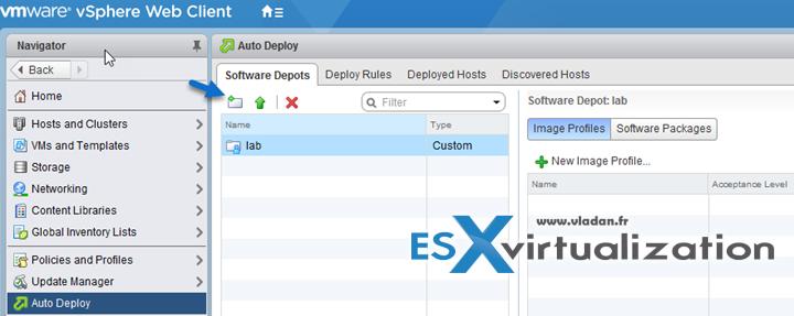 VMware vSphere 6.5 Image Builder and AutoDeploy