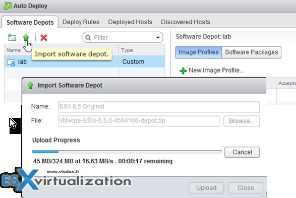 VMware vSphere 6.5 ImageBuilder and Autodeploy
