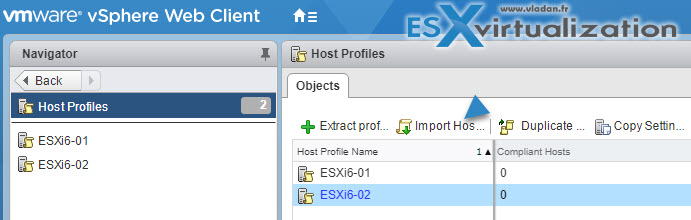 VCP6.5-DCV Import Host Profile