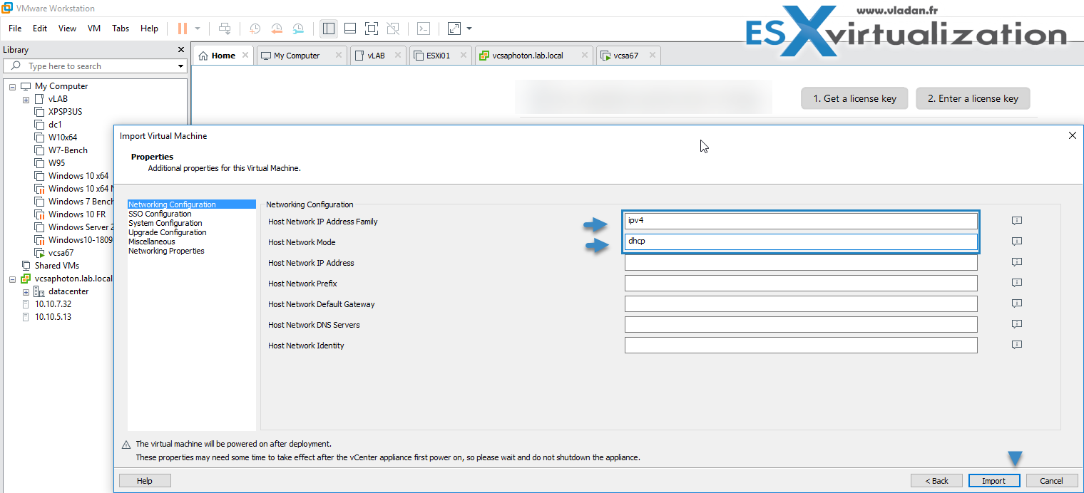 How To deploy VMware VCSA 6 7 U1 in VMware Workstation | ESX
