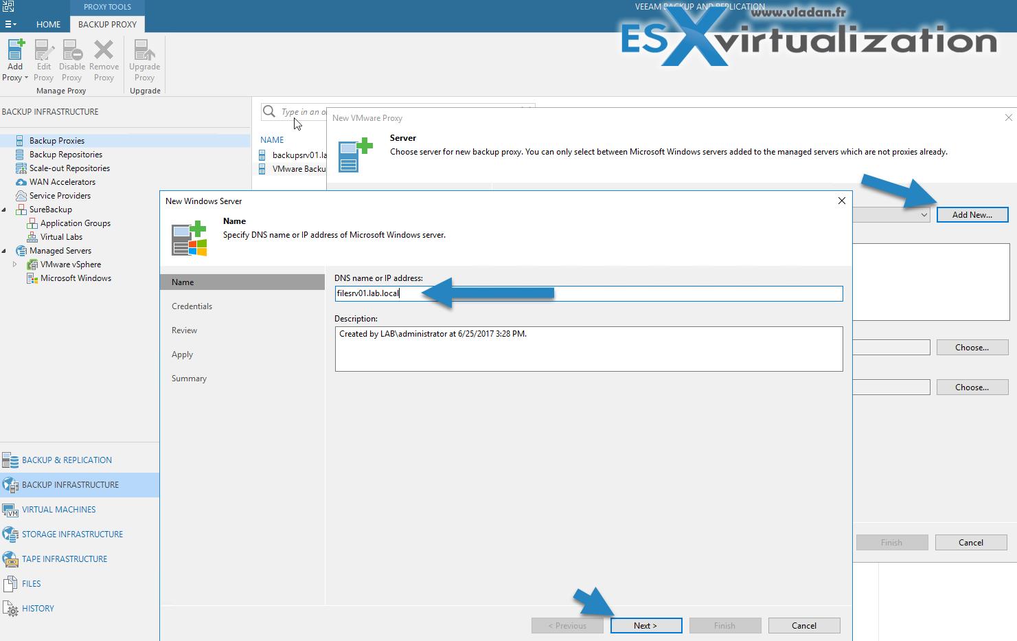 What is Veeam Proxy?   ESX Virtualization