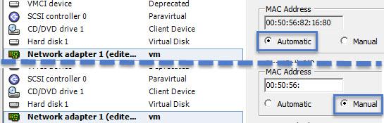 how to set a static mac address in vmware environment rh vladan fr vmware manual mac address not valid range esxi manual mac address