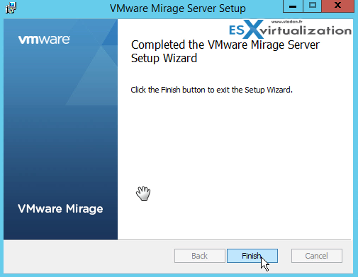 Mirage Server Installation OK