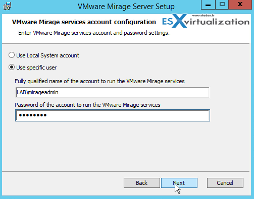 Mirage Server Installation