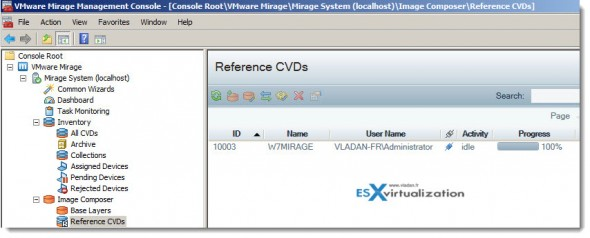 VMware Mirage - creating reference CDV