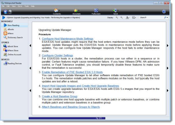Mobipocket reader vSphere 5 Documentation