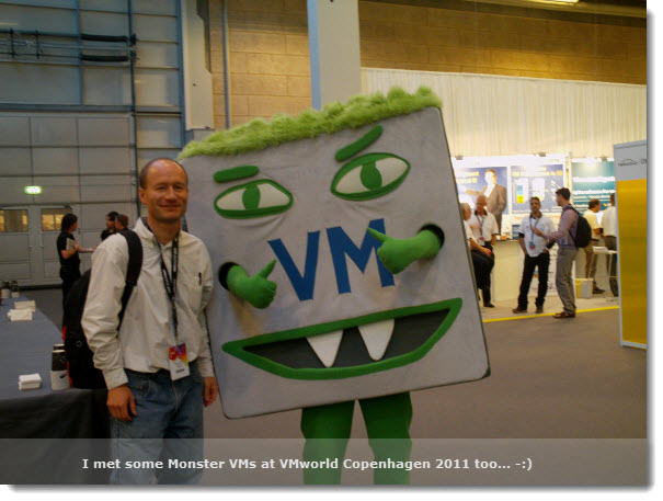 VMworld Copenhagen 2011 - The Monster VMs
