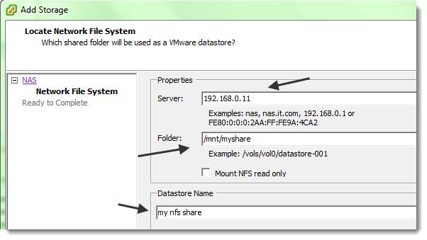 How to configure ESX host to access NFS storage VMware vSphere