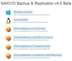 Nakivo Backup and Replication v 4.0 Beta