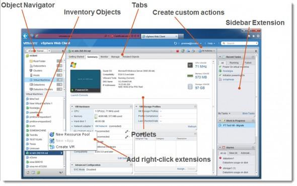 New vSphere 5.1 Web Client