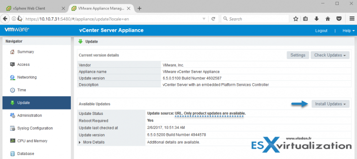 Patch VCSA 6.5 via update repo ZIP file