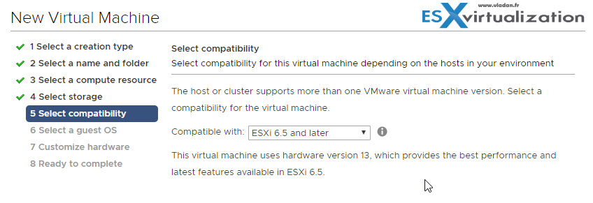 Performance Optimized VM of Windows Server 2016 On ESXi 6 5