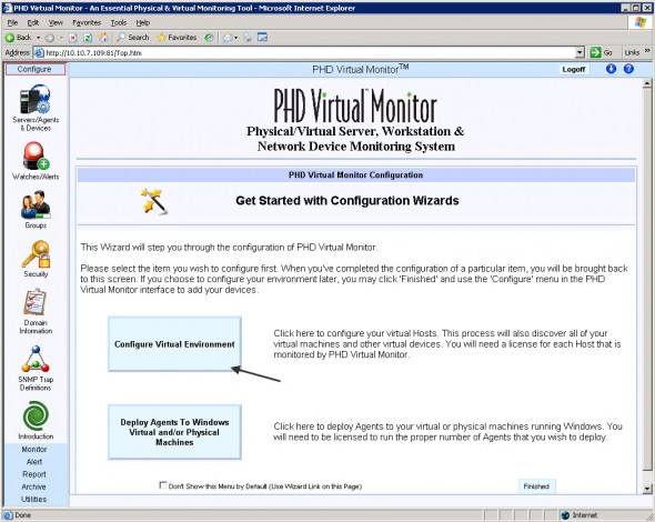 PHD Virtual Monitor Setup
