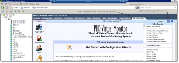 Phd Virtual Monitor vCenter Integration
