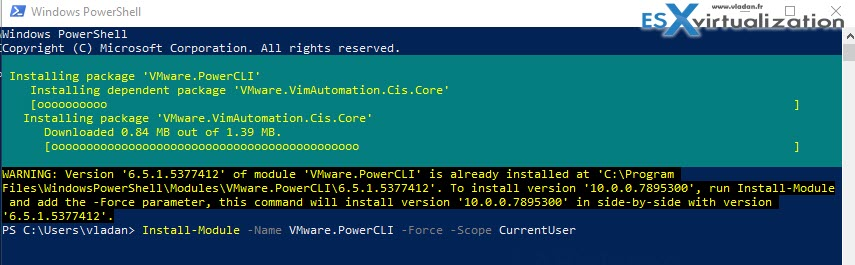 VMware PowerCLI 10 Released | ESX Virtualization