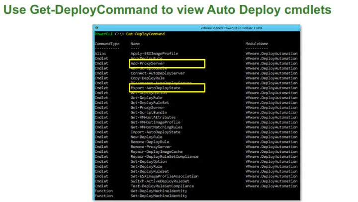 PowerCLI AutoDeploy cmdlets
