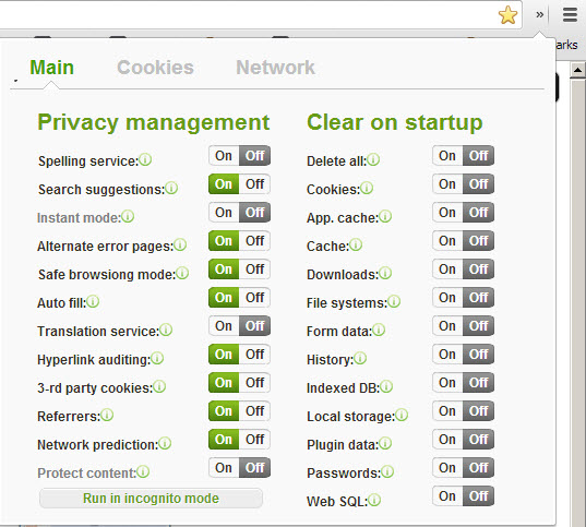 PrivacyManager - Chrome Extension