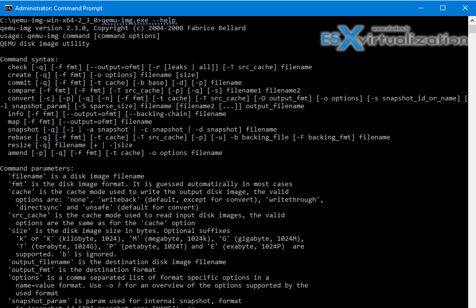 QEMU disk image utility for Windows - Free Tool | ESX Virtualization