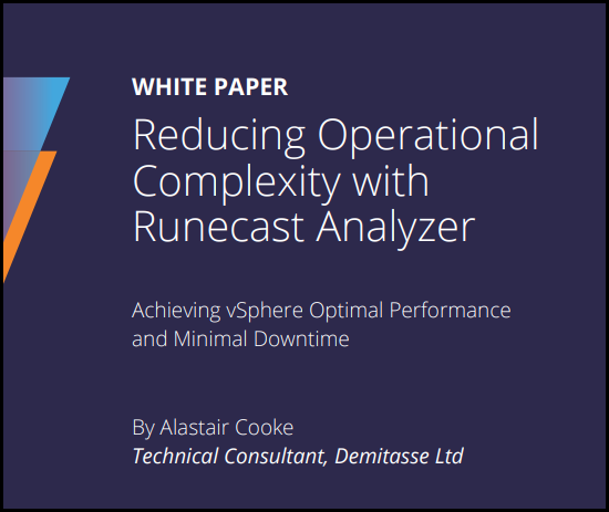 Reduce Operational Complexity With Runecast Analyzer