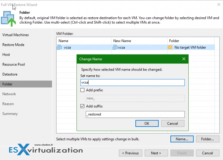 Restore VCSA 6.5 with Veeam Backup and Replication 9.5 Update 1