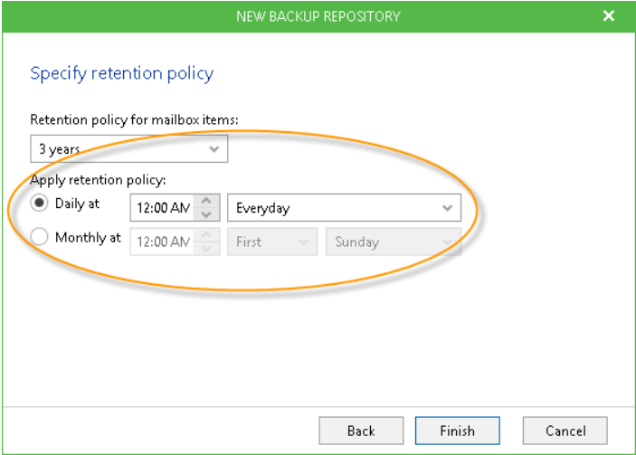 Retention Policy for Veeam Backup for Office 365