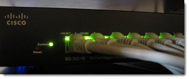 A Cisco L3 capable switch with 10 Gigabit ports