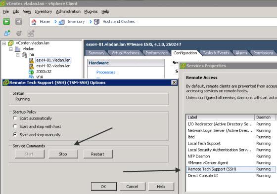 How-to start SSH on your ESXi Servers remotely via PowerCLI | ESX