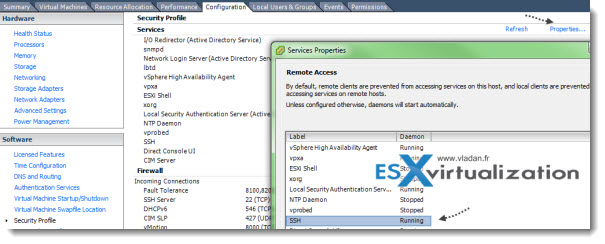 Enable SSh on VMware ESXi through GUI