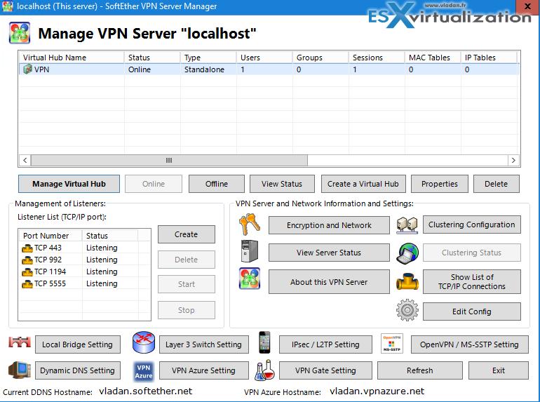 Cool Free VPN Server Software SoftEther VPN | ESX Virtualization