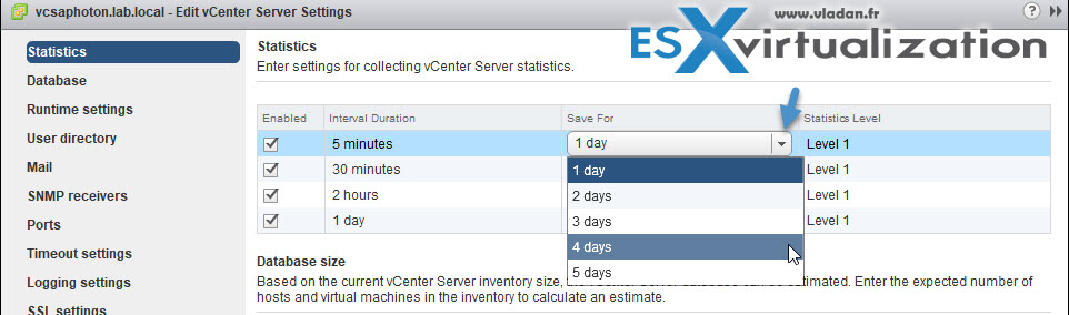 How to Configure Statistics Collection Intervals in vCenter | ESX