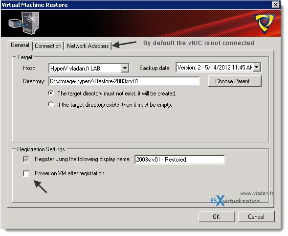Trilead VM Explorer 4.0 - Full VM restore - Hyper-V