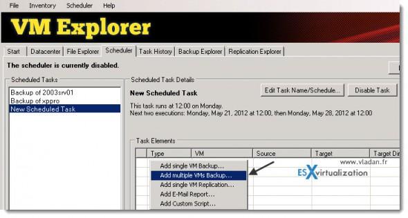 Trilead VM Explorer 4.0 - creating multiple VM backup