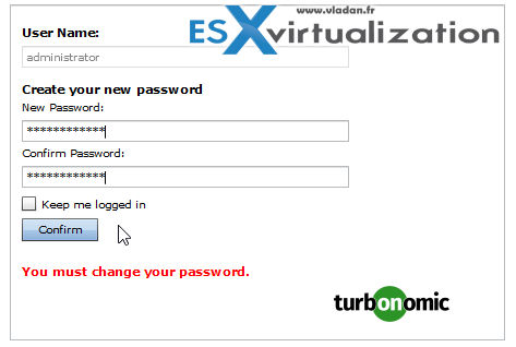 Turbonomic Operations Manager Password Change