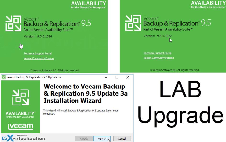Veeam Backup and Replication 9 5U3a Upgrade | ESX Virtualization
