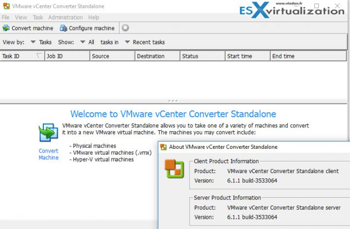 V2V Migration with VMware converter