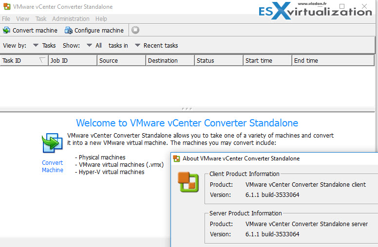 How to convert a physical server using VMware converter  | ESX