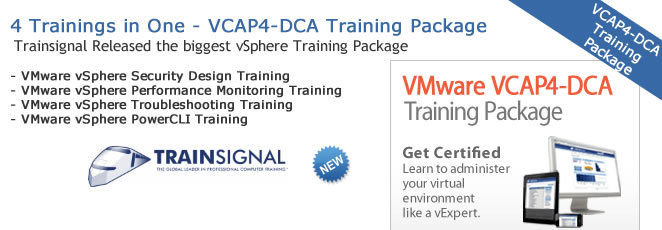 Ultimate VMware VCAP4-DCA Training package from TrainSignal