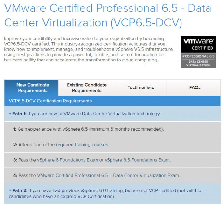 VCP6.5-DCV Study Guide