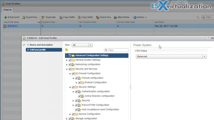 VCP6.5-DCV - Apply permissions to ESXi Hosts using Host Profiles