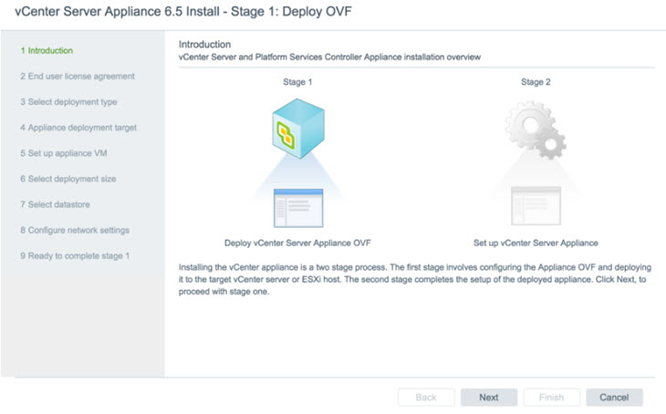VMware vSphere 6.5 - Migration into VCSA 6.5