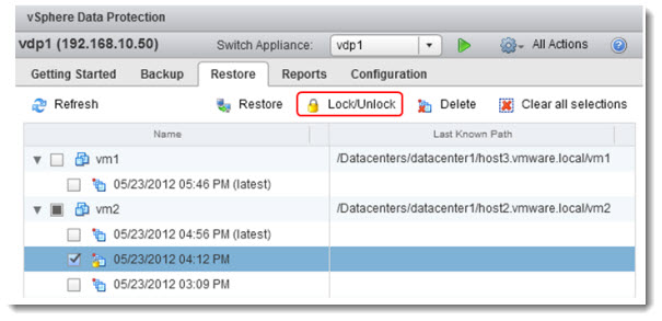 vSphere Data Protection