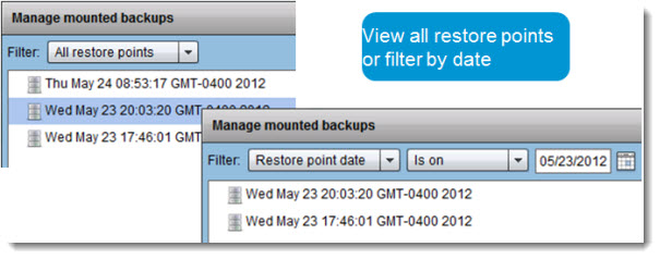 vSphere Data Protection - Restore Individual files from backup