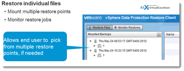VDR5 vSphere Data Protection   a new backup product included with vSphere 5.1
