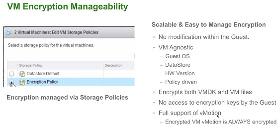 VMware vSphere 6.5 - VM Encryption details