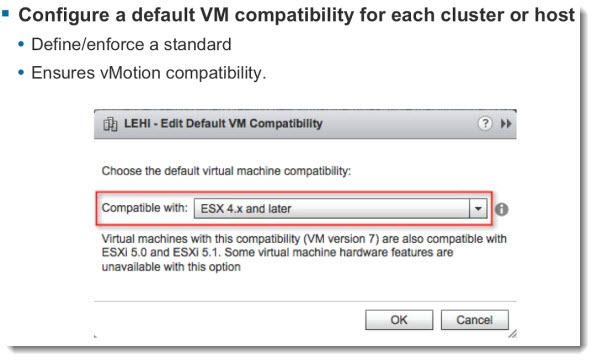 VM compatibility2 VMware vSphere 5.1   Virtual Hardware Version 9