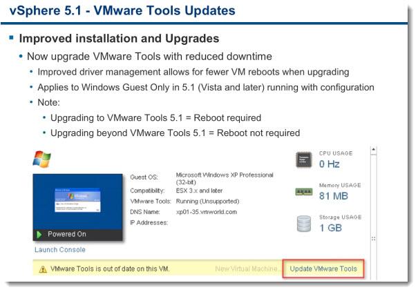 VMware vSphere 5.1 - Virtual Hardware Version 9 new features